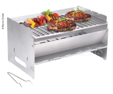 mobiele opvouwbare grill 250x400x220mm, roestvrij staal